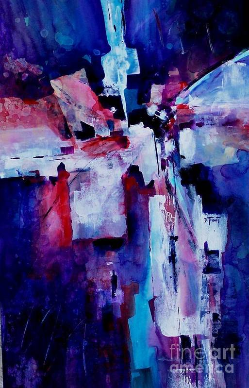 Abstract Expressionism Art Print featuring the painting Emerging Spirit by Donna Frost