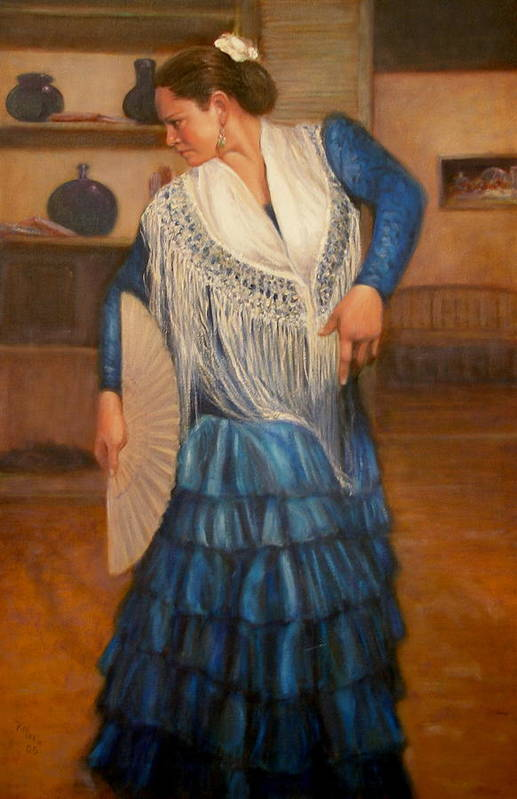Realism Art Print featuring the painting Flamenco 2 by Donelli DiMaria