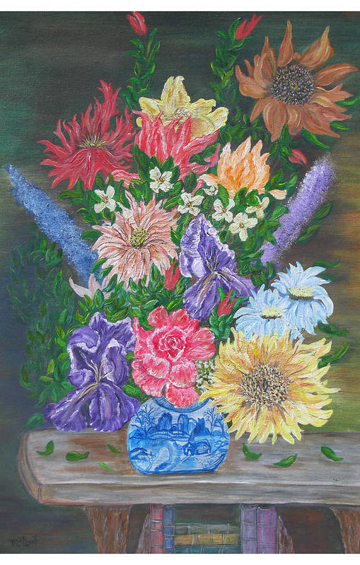 Floral Art Print featuring the painting Flemish Floral by Mikki Alhart