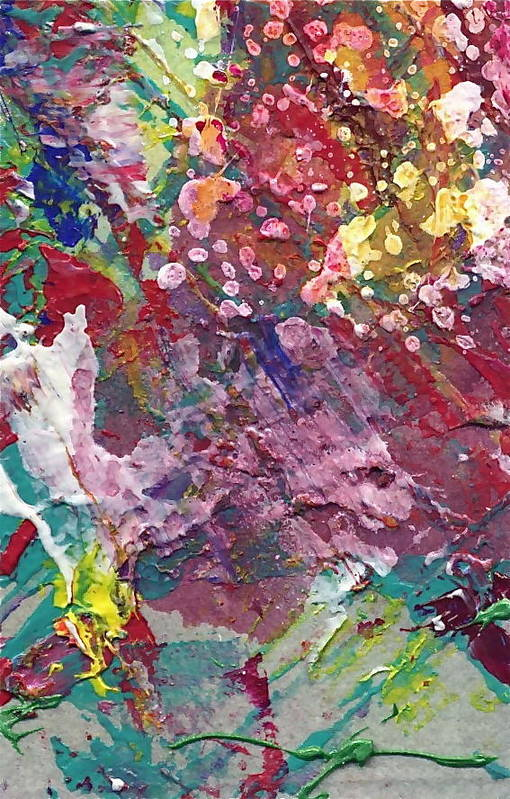Abstract Art Print featuring the painting Hot Summer by Jan Bennicoff