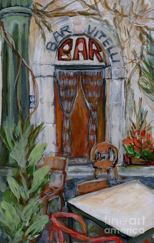 Lanscape Art Print featuring the painting Italy004 Somewhere In Sicily by Silvana Siudut