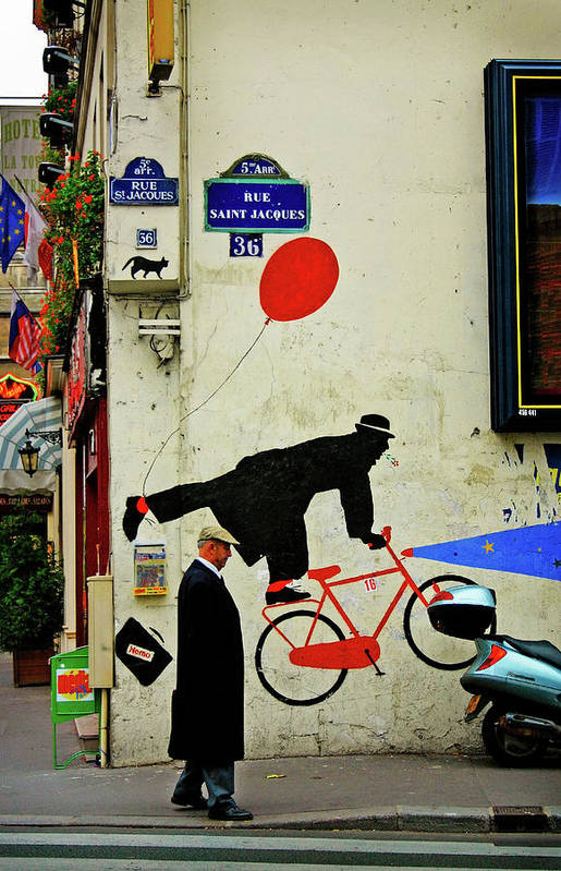 Paris Art Print featuring the photograph Kick In The Head by Skip Hunt