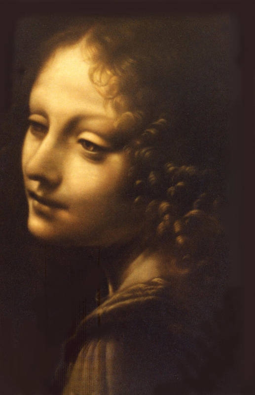 Angel Art Print featuring the painting Leonardo- Angel From The Madonna Of The Rocks by Paul Herman