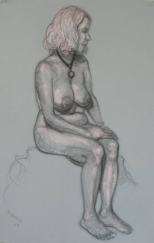 Realism Art Print featuring the drawing Lori 3 by Donelli DiMaria