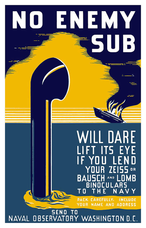 Wwii Print featuring the painting No Enemy Sub Will Dare Lift Its Eye by War Is Hell Store