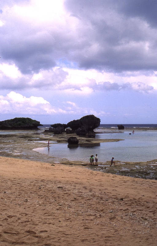 Okinawa Art Print featuring the photograph Okinawa Beach 3 by Curtis J Neeley Jr