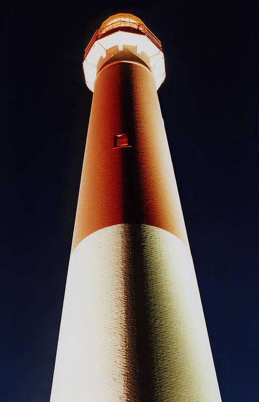 Barnegat Lighthouse Art Print featuring the photograph Ol' Barney At Night by Tom LoPresti