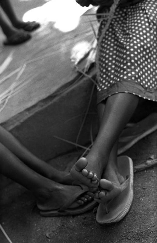 Rwanda Art Print featuring the photograph Orphan Feet by Marcus Best