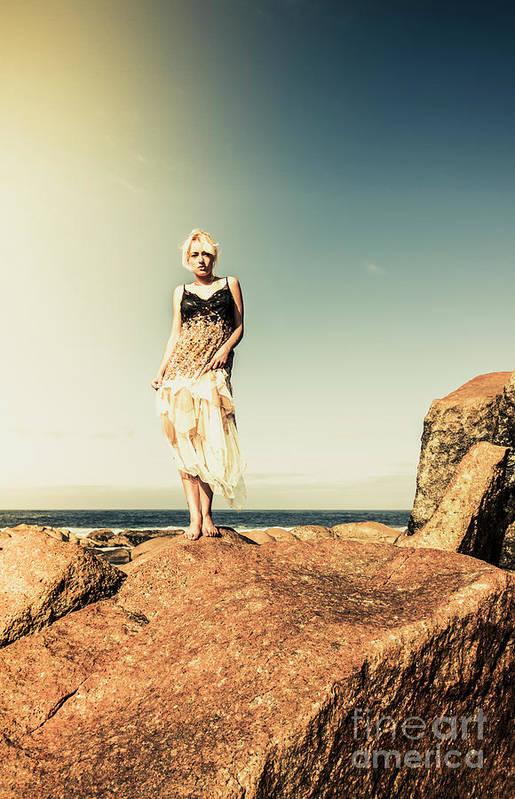 Retro Art Print featuring the photograph Retro Beach Fashions by Jorgo Photography - Wall Art Gallery