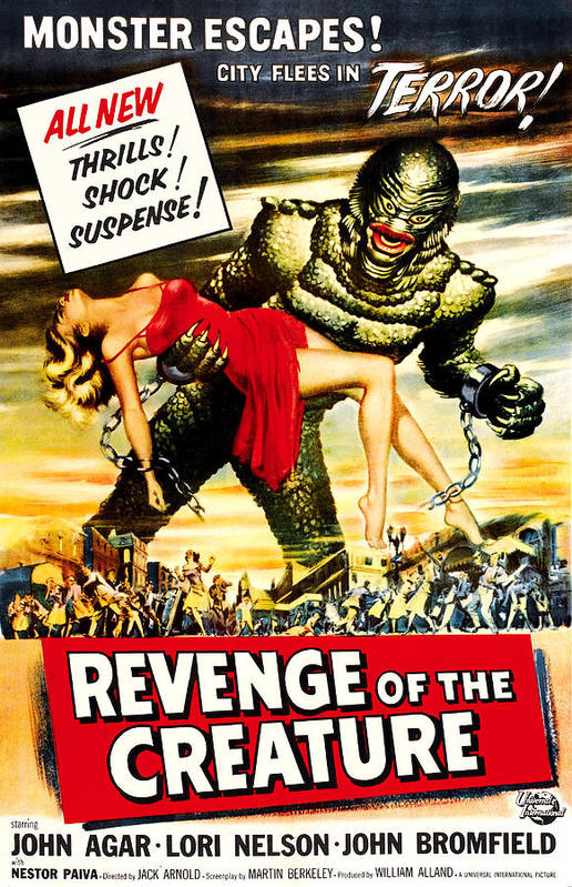1950s Poster Art Print featuring the photograph Revenge Of The Creature, 1955 by Everett
