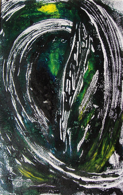 Abstract Art Print featuring the painting Sans Fin by Muriel Dolemieux