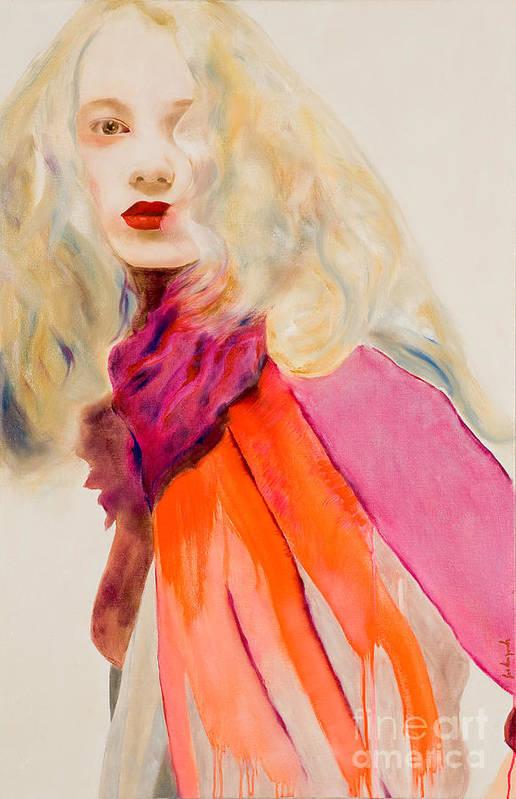Portrait Art Print featuring the painting Sauge by Krzis-Lorent Frederique