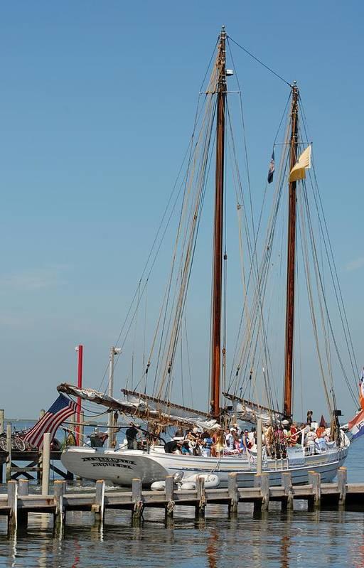 Sailing Ship Print featuring the photograph Schooner A. J. Meerwald 2 by Joyce StJames