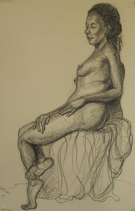 Realism Art Print featuring the drawing Serena 2 by Donelli DiMaria