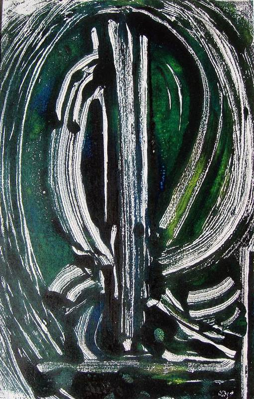 Abstract Art Print featuring the painting Signe by Muriel Dolemieux