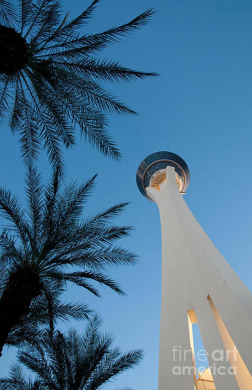 Las Vegas Art Print featuring the photograph Stratosphere Tower by Andy Smy