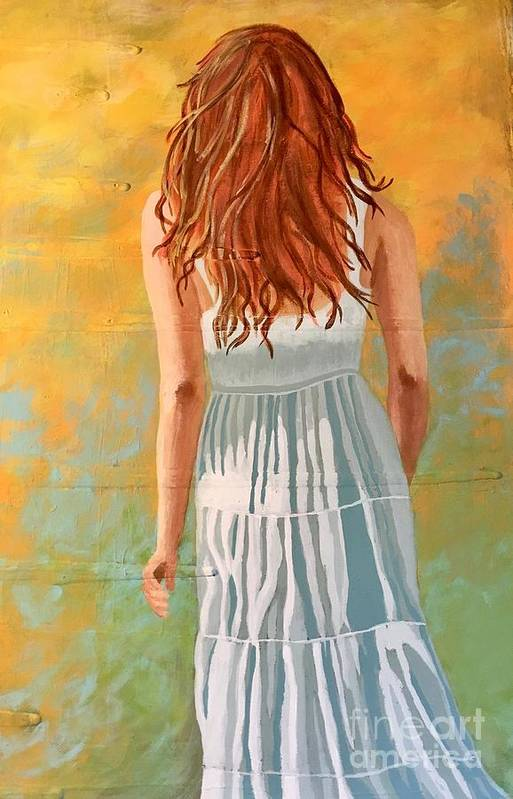 Girl Art Print featuring the painting Sue by Monica Pope