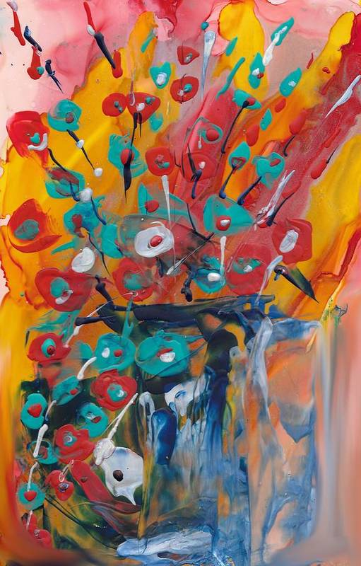 Floral Art Print featuring the painting Supermarket Flowers by Bonny Butler
