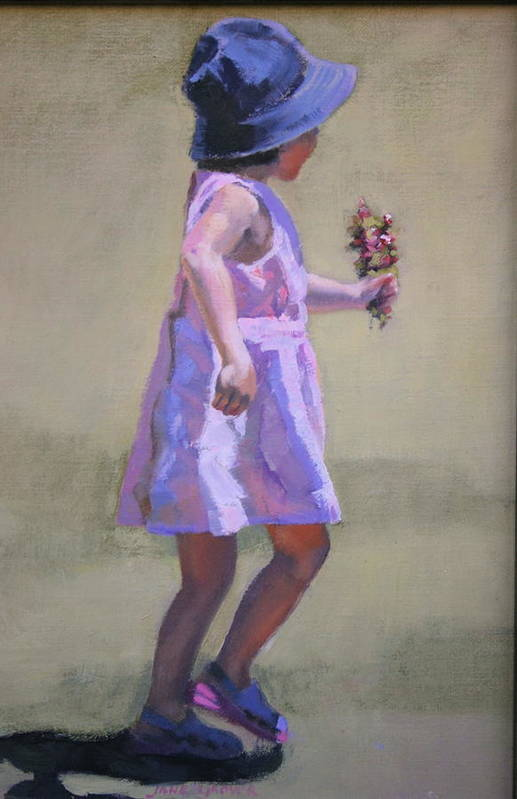 Figure Art Print featuring the painting The Gift by Jane Grover