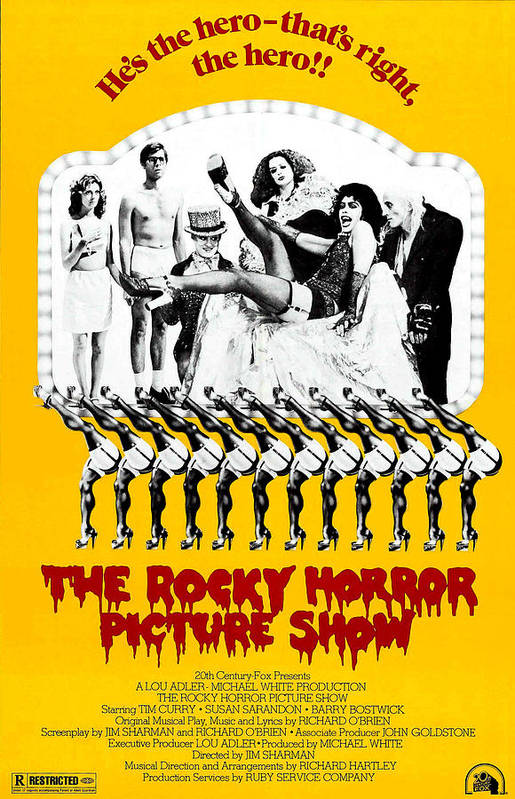 1970s Poster Art Art Print featuring the photograph The Rocky Horror Picture Show by Everett