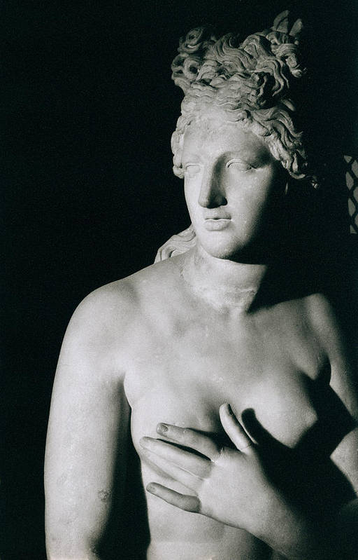 Venus Pudica (marble) Print featuring the photograph Venus Pudica by Unknown