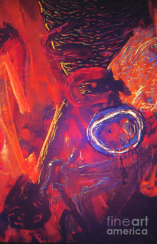 Abstract Art Print featuring the painting Volume Forge by Jeff Birr