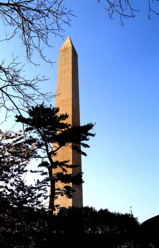 Washington Art Print featuring the photograph Washington Monument At Dusk by Douglas Barnett