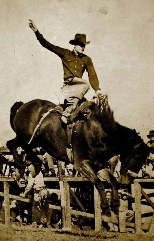 Busting Bronco Art Print featuring the photograph Yippy-ki -yea by Randi Seaman