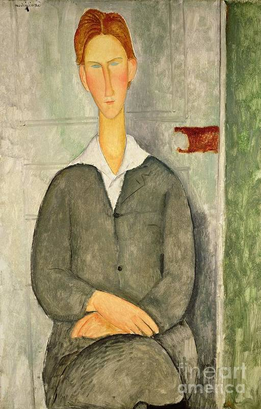 Young Print featuring the painting Young Boy With Red Hair by Amedeo Modigliani