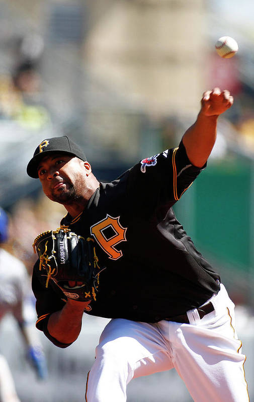 Professional Sport Art Print featuring the photograph Francisco Liriano by Justin K. Aller