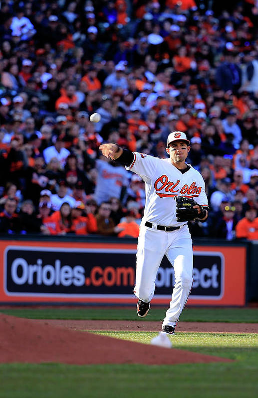 American League Baseball Art Print featuring the photograph Ryan Flaherty by Rob Carr