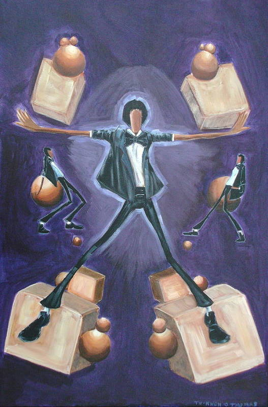 Michael Art Print featuring the painting Don't Stop Till You Get Enough by Tu-Kwon Thomas