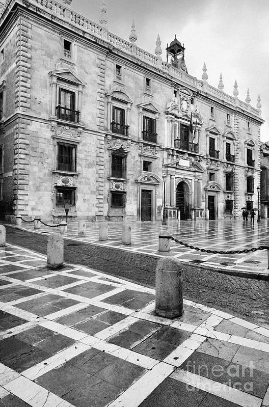 Monochrome Art Print featuring the photograph The Royal Chancery Of Granada by Guido Montanes Castillo
