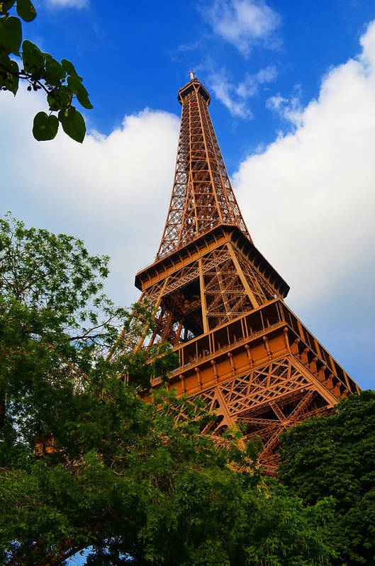 Eiffel Tower Paris France Photography Art Print featuring the photograph Eiffel Tower Paris France by Patricia Awapara