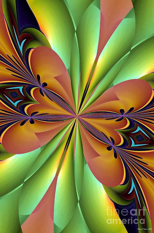Abstract 159 Art Print featuring the digital art Abstract 159 by Maria Urso