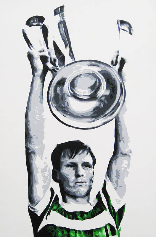 Billy Mcneill Art Print featuring the painting Billy Mcneill - Glasgow Celtic Fc by Geo Thomson