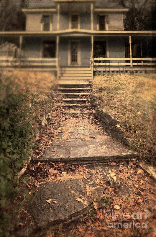 House Print featuring the photograph Blue House by Jill Battaglia