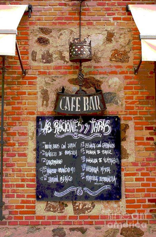 Photography Art Print featuring the photograph Cafe Bar by Sophie Vigneault