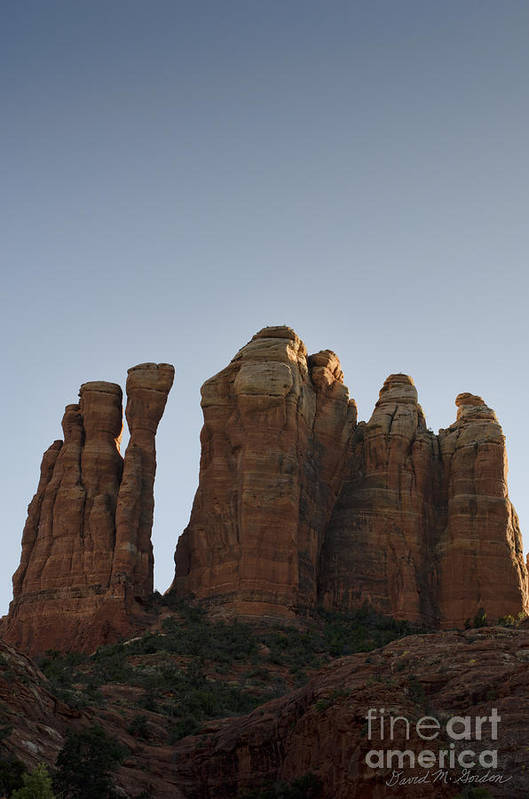 Cathedral Art Print featuring the photograph Cathedral Rock Spires by Dave Gordon