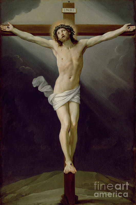 Jesus Art Print featuring the painting Christ On The Cross by Guido Reni