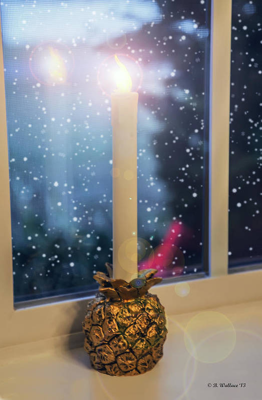 2d Art Print featuring the photograph Christmas Candle by Brian Wallace