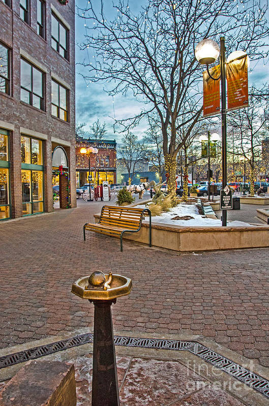 Old Town Art Print featuring the photograph Christmas Old Town by Baywest Imaging