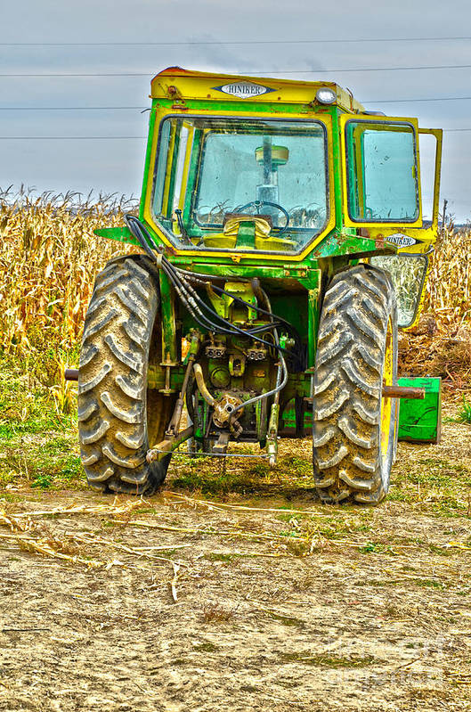 Tractor Art Print featuring the photograph Deere 3 by Baywest Imaging