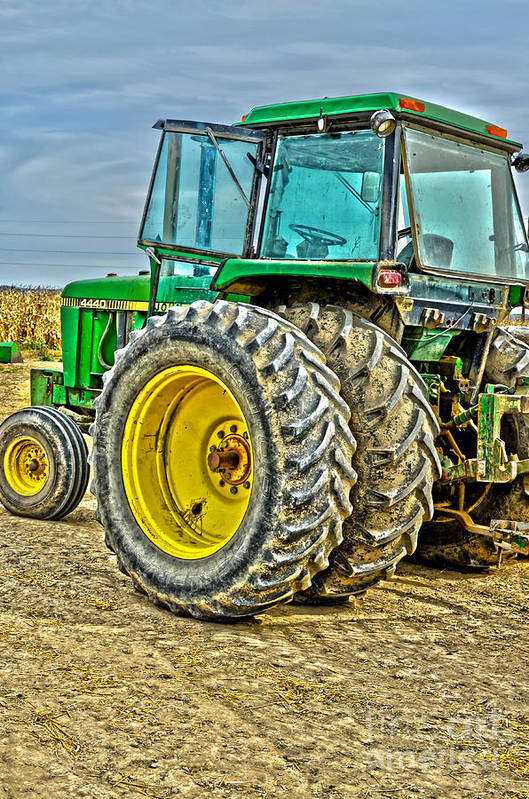 Tractor Art Print featuring the photograph Deere 4 by Baywest Imaging
