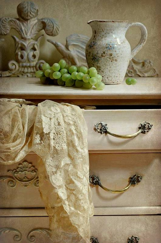 Still Life Art Print featuring the photograph Drawer Of Lace by Diana Angstadt
