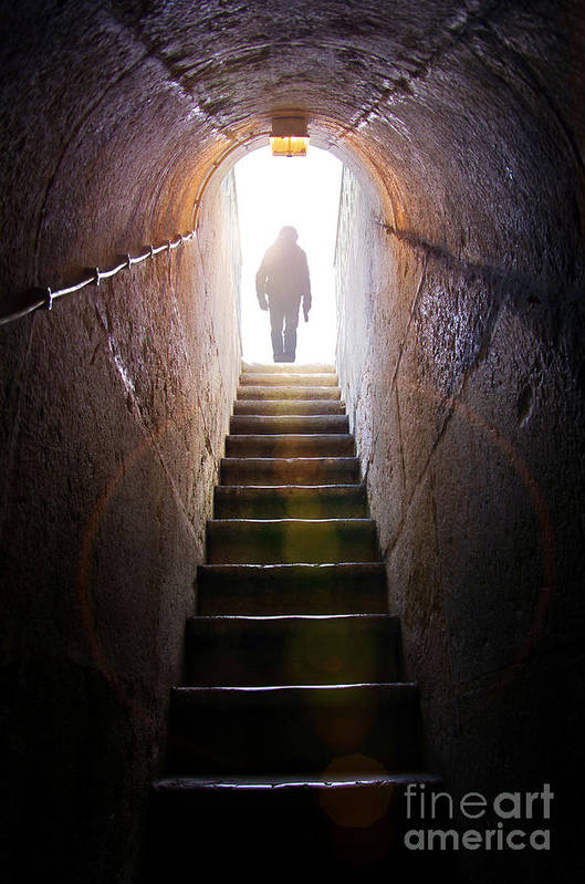 Above Art Print featuring the photograph Dungeon Exit by Carlos Caetano
