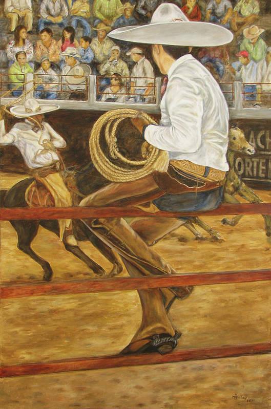Mexican Art Print featuring the painting El Vaquero Que Ata by Pat Haley