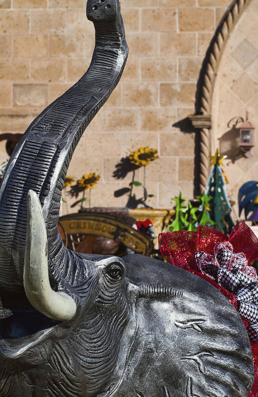 Roll Tide Art Print featuring the photograph Elephant Celebration by Kathy Clark