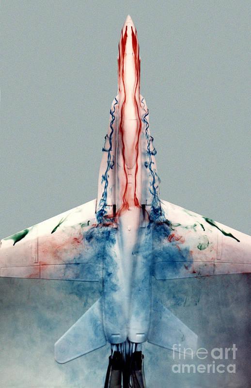 F-18 Art Print featuring the photograph F18 Aerodynamics by Nasa Dfrc