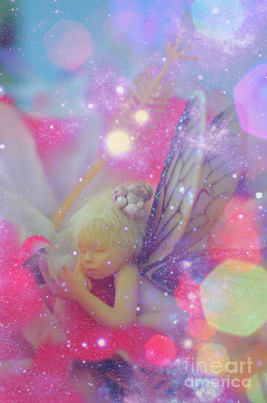 Fairy In Fairy Dust Print Art Print featuring the photograph Fairy In Fairy Dust by Lila Fisher-Wenzel